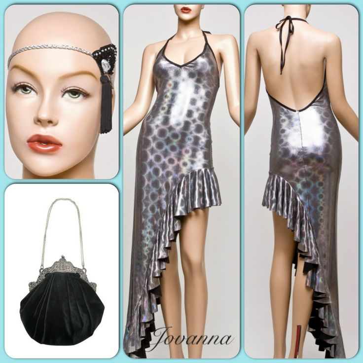A classic dress with asymmetrical frilled edging to create that Cha Cha vibe.  Designed from imported Italian holographic fabric, the dress has a beautiful drape; complementary bust and neck tie with a slightly scooped back.