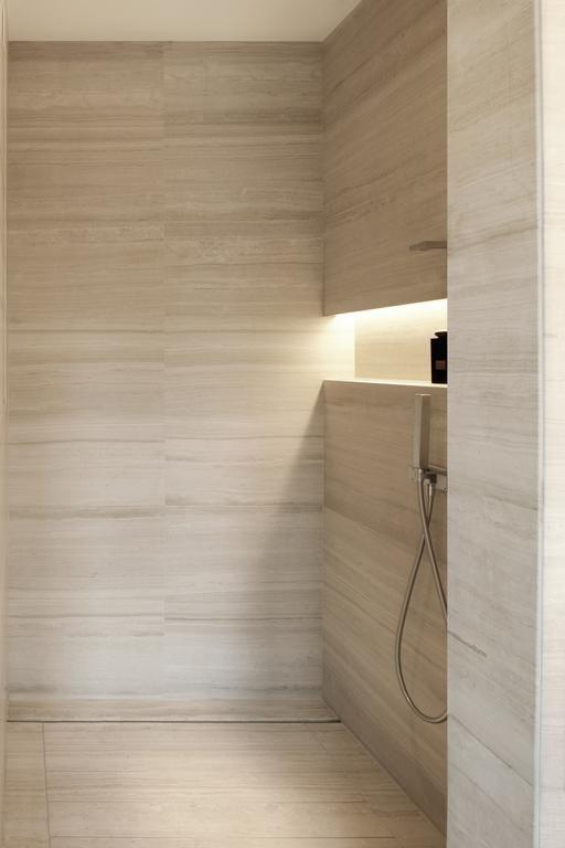Armani Hotel Milano- amazing stone shower enclosure