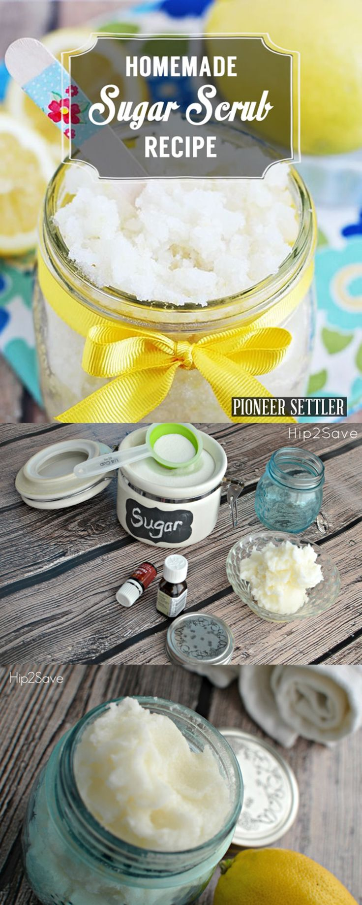 DIY Homemade Sugar Scrub Recipe | Easy and Cheap DIY Mother's Day Gift from Teens by DIY Ready at  http://diyready.com/diy-gifts-mothers-day-ideas/