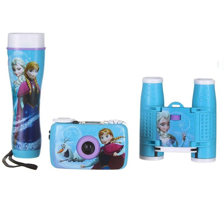 Disney Frozen Adventure Kit w/35mm Camera, Binoculars and Flashlight, Black night