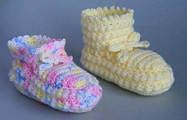 Crochet Newborn Baby Patterns Free : Free Crochet Bootee/Bootie Pattern crochet Pinterest