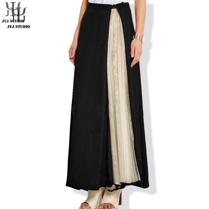Aliexpress.com : Buy Split Skirt Perspective High Waisted Skirts Womens Patchwork Sexy Transparent Black Elegant Pleated Skirt Ankle length from Reliable skirt mini suppliers on JYJ STUDIO