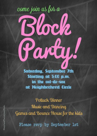 block party flyer word document Tulumsmsenderco