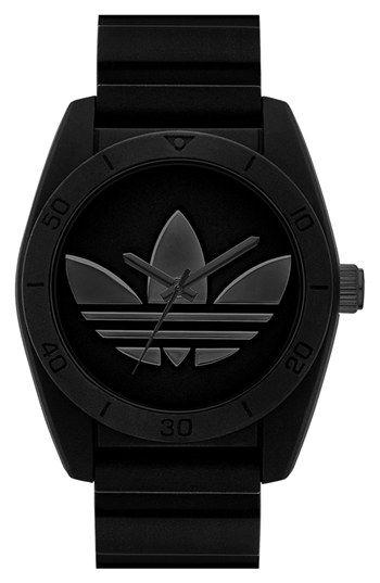 adidas Originals 'Santiago' Silicone Strap Watch, 42mm | Nordstrom #FathersDay #GiftIdea #GiftsForDad
