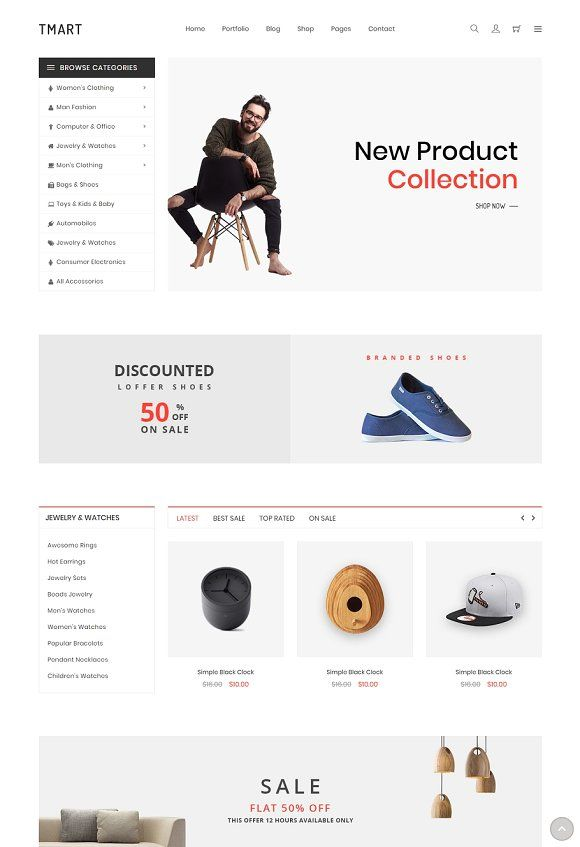 Tmart Free Ecommerce Template By Hasthemes On Creativemarket 24 Pages 2 Homepages 3 Shop Page Ecommerce Website Design Ecommerce Web Design Ecommerce Template
