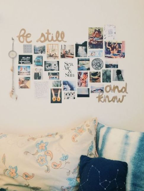 Using photos of your family and friends is an easy way to decorate your dorm room!