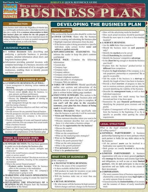 How To Write A Business Plan (9781572228115) Business Strategy