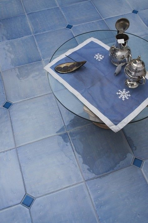 "floor tiles signed by Ceramica ""Il pozzo"" Salerno Italy"