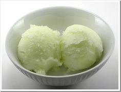 Healthy and Easy Recipes: Lime Honey Dew Sorbet