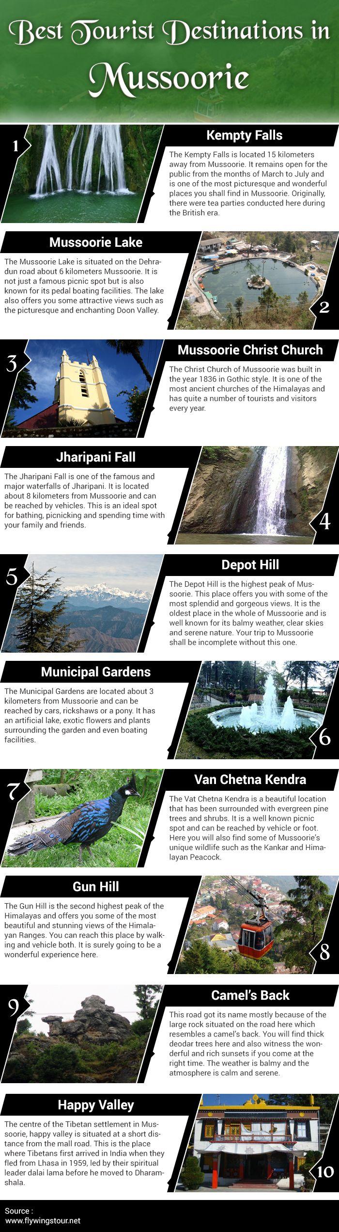 Best Tourist Destinations in #Mussoorie. #Tour #Travel #Tourism #India