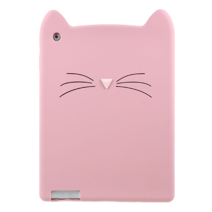 Dulcii Case for Apple i Pad 4 3D Moustache Cat Silicone Tablet Case Shell for i Pad 4 3 2 - 9.7 inch #Affiliate