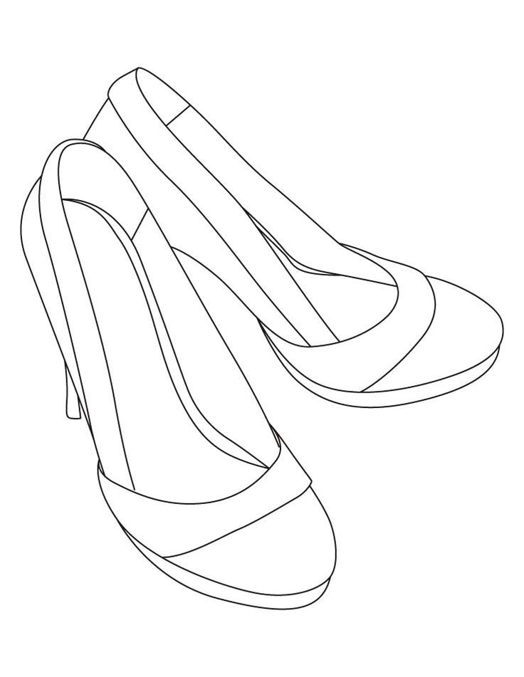High heel shoes | Drawing high heels, Color, Coloring pages