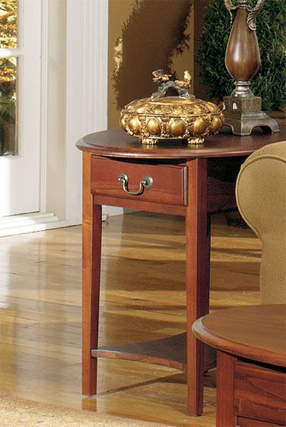 1900 06CHR Petite Oval End | Null Furniture
