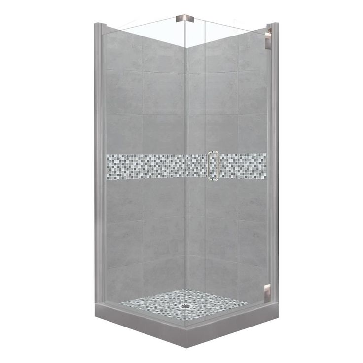 36 x 36 corner shower kit. american bath factory del mar grand hinged 36 in. x 80 corner shower kit l