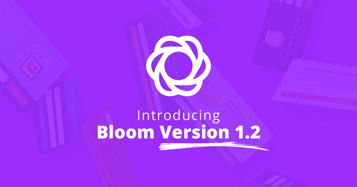 Bloom 1.2 Has Arrived With Three New Email Providers, Form Success Actions And More
