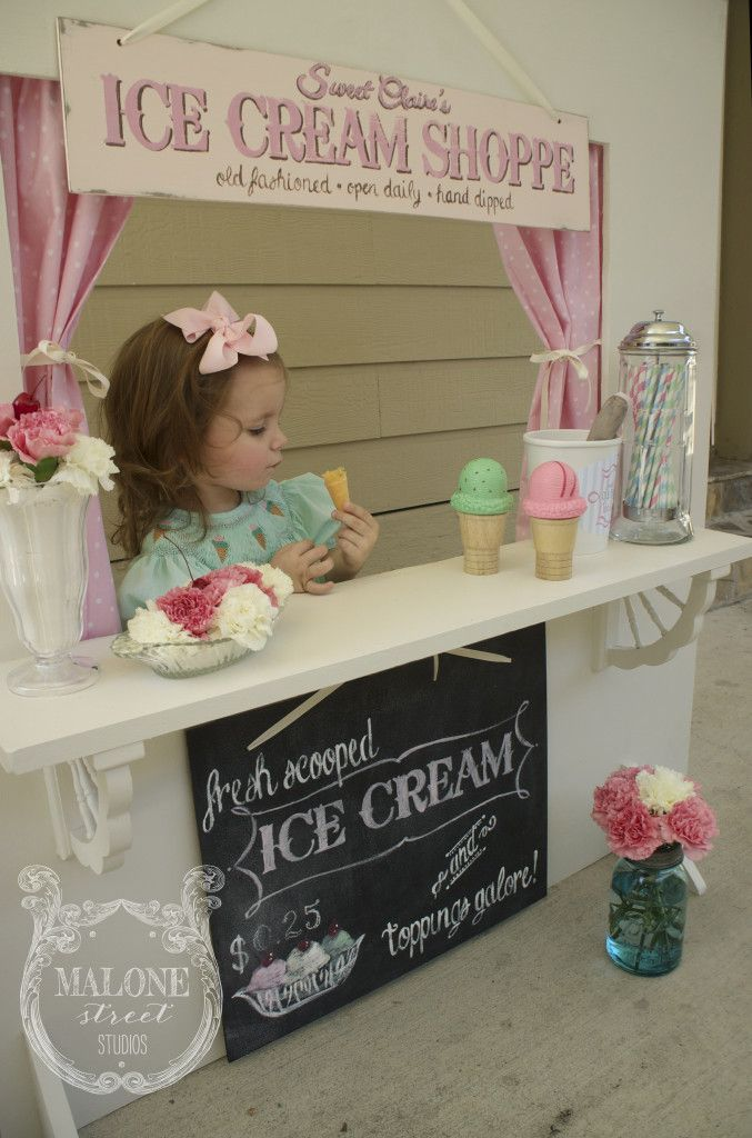 Malone Street Studios | live like you're lucky – DIY Homemade Ice Cream Stand