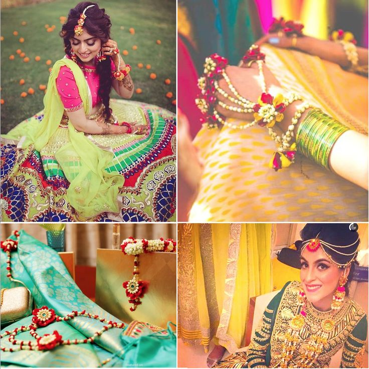 Ideas to Get the Perfect Mehendi Look with Flower Jewellery| Fooljadhi| Rashagota| Jewelsome| Mehndi| Stunning Indian Brides|Fresh Flower Jewellery| The ultimate guide for the Indian Bride to plan her dream wedding. Witty Vows shares things no one tells brides, covers real weddings, ideas, inspirations, design trends and the right vendors, candid photographers etc.| #bridsmaids #inspiration #IndianWedding | Curated by #WittyVows - Things no one tells Brides | www.wittyvows.com