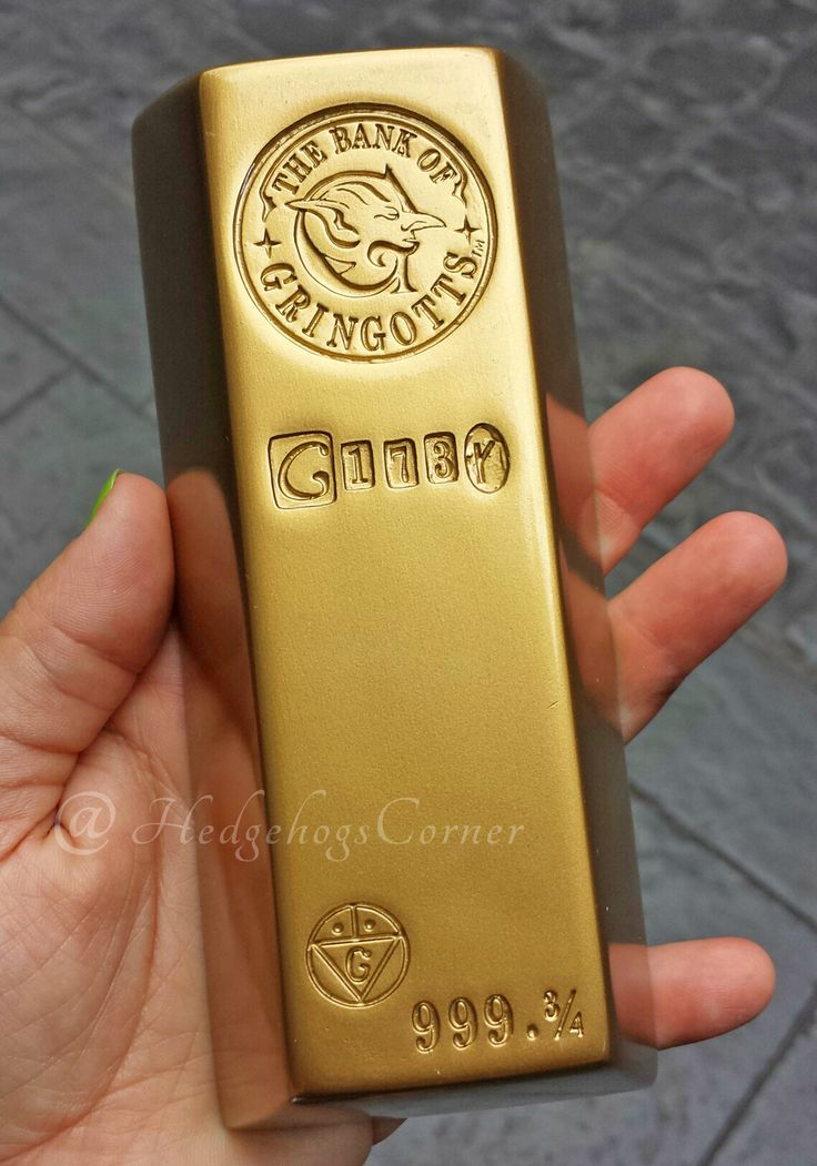 Wizarding World Harry Potter Gringotts Bank Resin Gold Bar Diagon Alley NEW…