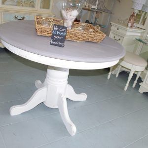 Grey Distressed Kitchen Table