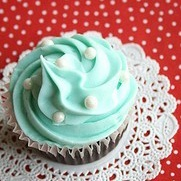 Pretty Tiffany's Blue Cupcake