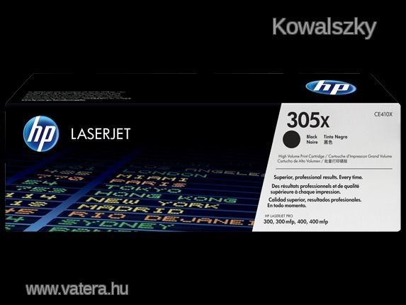 HP CE410X Lézertoner LaserJet Pro 300 MFP M375 nyomtatóhoz, HP 305X fekete, 4k M452 M452dn M452dw M4 - 10000 Ft - Nézd meg Te is Vaterán - Toner  - http://www.vatera.hu/item/view/?cod=2429328962
