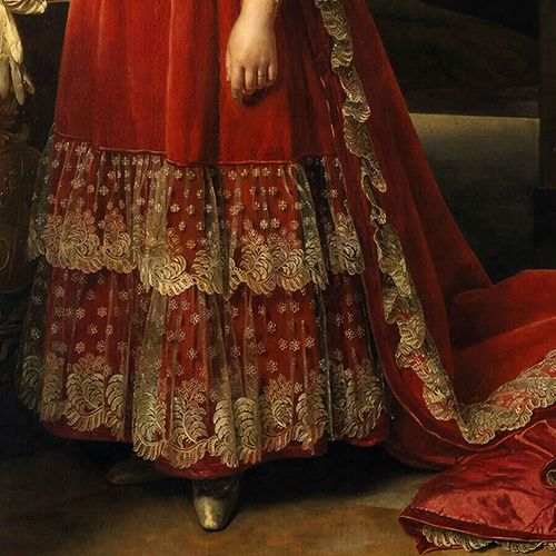 Dress detail from a portrait of marie th r se of france for Empire tattoo blackwood