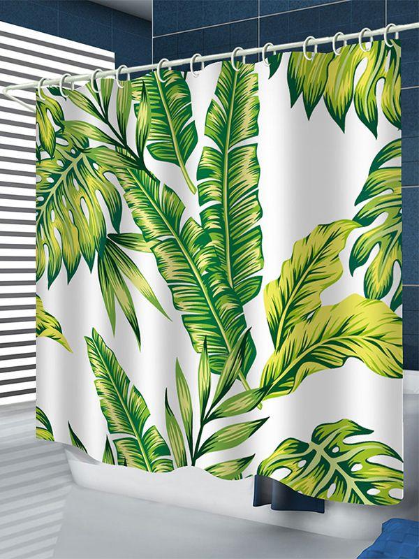 Bk150 Banana Leaf Shower Curtain Banana Leaf Shower Curtain
