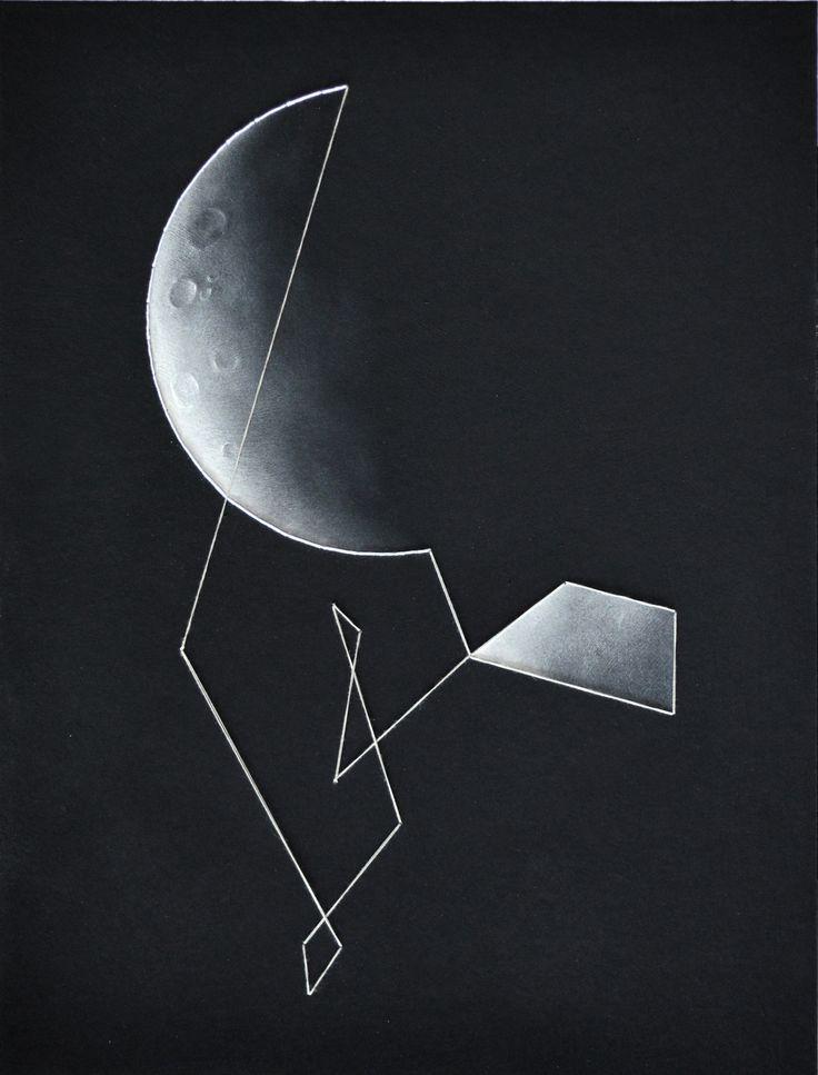 Moon 34,5x45 cm Piotr Olszak