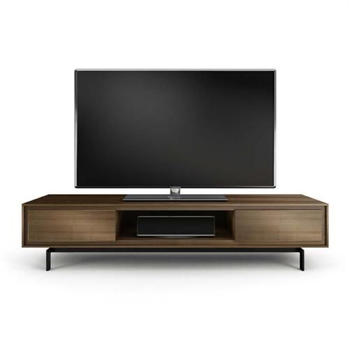 BDI SIGNAL Solid Wood and Black Steel 85 inch TV Cabinet (Natural Walnut) 8323-NatWal