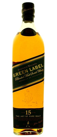 Johnnie Walker Green Label.  $50