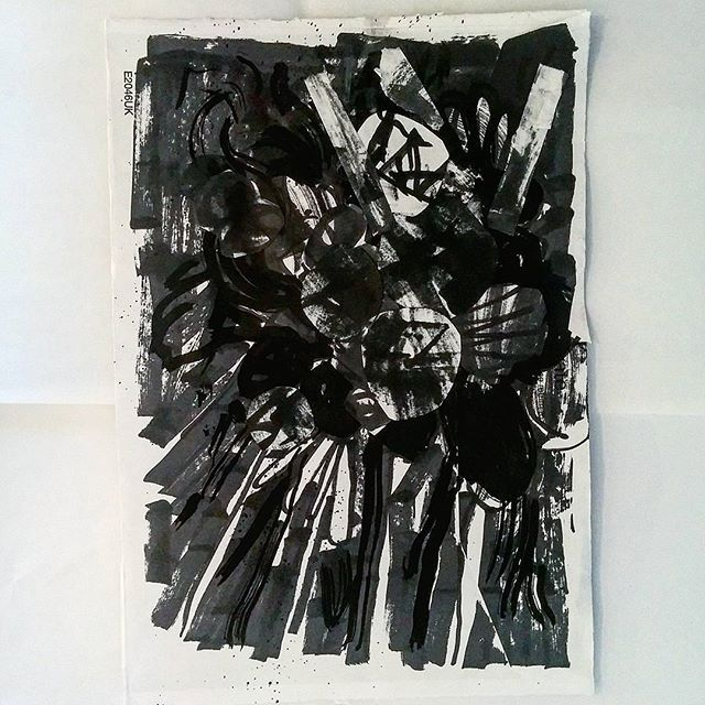 #inktober 31 - abstract collage by artist David Andrews. (#abstract #collage #ink #drawing #blackandwhite #black #marker #pen #markers #inktober2016)