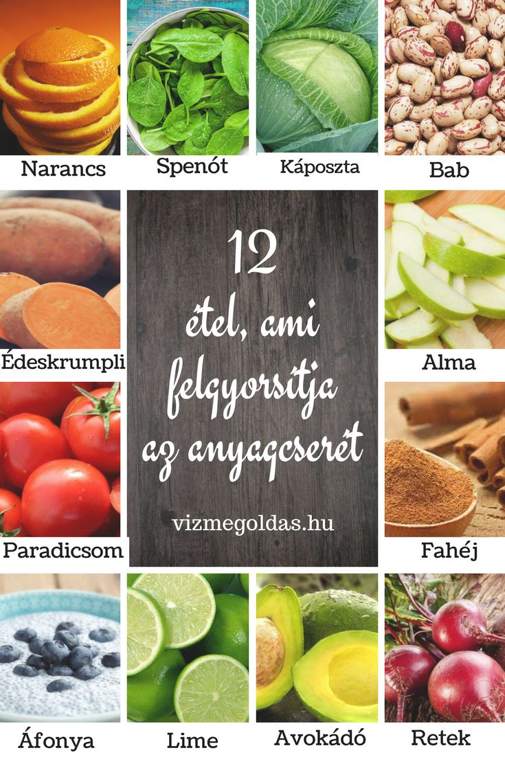 Egészséges táplálkozás - 12 étel, ami felgyorsítja az anyagcserét
