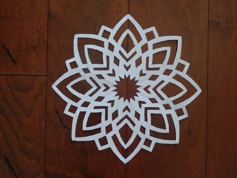 How to make a paper snowflake - YouTube