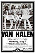 Van Halen Steamrock Fever Civic Arena 1979 Live Concert Retro Art Print — Poster Size — Print of Retro Concert Poster — Features David Lee Roth , Eddie Van Halen , Alex Van Halen and Wolfgang Van Halen.