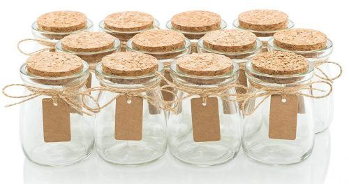 c8aecd68729f Glass Favor Jars With Cork Lids   Top 10 Best Small Glass Jars in ...
