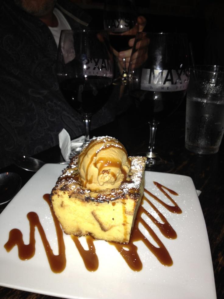 Crazy bread pudding at Max's Wine Dive - Houston...