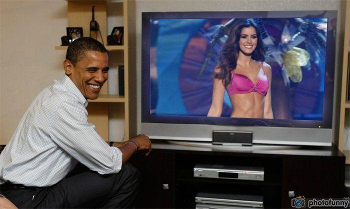 Paulina Vega Miss Colombia en vivo Obama