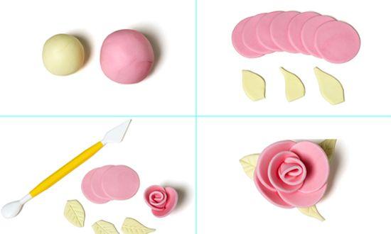 flores en fondant para tortas - Buscar con Google