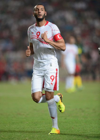 Yassin Chikhaoui of Tunisia in action during the FIFA 2014 World Cup qualifier at the Stade Olympique de Radès on October 13, 2013 in Rades, Tunisia.