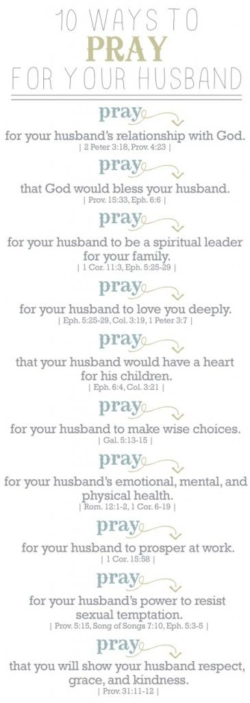 This 10 Ways to Pray for Your Husband bookmark is a reminder to pray for my husband daily. It's important to be specific & pray God's own words over him.