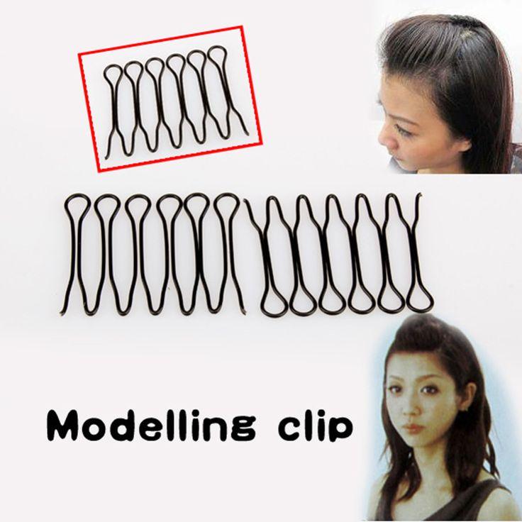 Nuovo Mini Stile di Capelli della Frangia di Scoppio Curve Clip di Capelli Pin Accessori Per Lo Styling Dei Capelli Strumenti Per Lo Styling Nero Invisibile