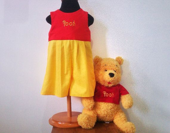 For Your Daddy, Bre  Winnie The Pooh Romper  Winnie The Pooh Costume size by LoopsyBaby, $28.00