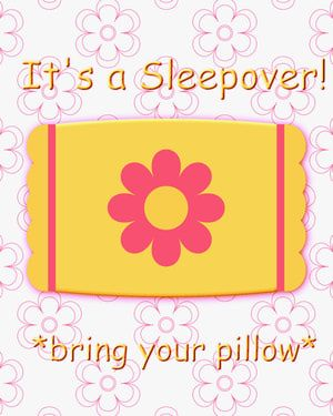 "Have a Sleepover Party for Teen Girls That Rocks: Print out our <a href=""http://parentingteens.about.com/od/partyplanningresources/ss/freeprintable-slumber-party-invitations.htm"">free printable sleepover invitations</a>."