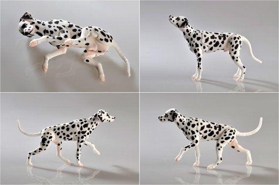 BJD dog Dalmatian. by ElleoDolls on Etsy