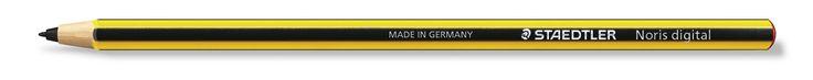 STAEDTLER Noris digital: Pencil on the outside - Digital on the inside.  https://www.staedtler.com/en/newsroom/press-room/press-releases/detail/news/the-staedtler-noris-digital-for-samsung-pencil-on-the-outside-digital-on-the-inside/
