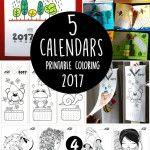 5+Printable+Coloring+Calendars+2017