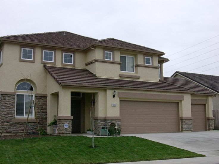 Stucco Exterior Paint Color Schemes 7 best colour scheme brown tile roof house images on pinterest