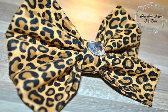 Hey, I found this really awesome Etsy listing at https://www.etsy.com/listing/567393370/cheetah-print-brown-hair-bow-fabric