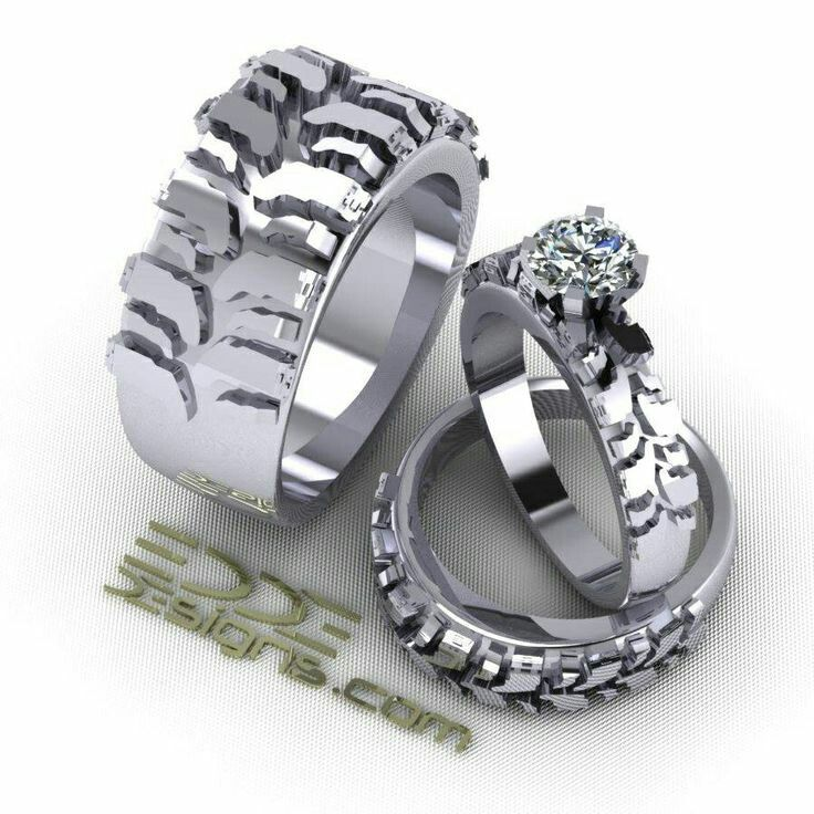 Dirtbike tire tread rings! =love!
