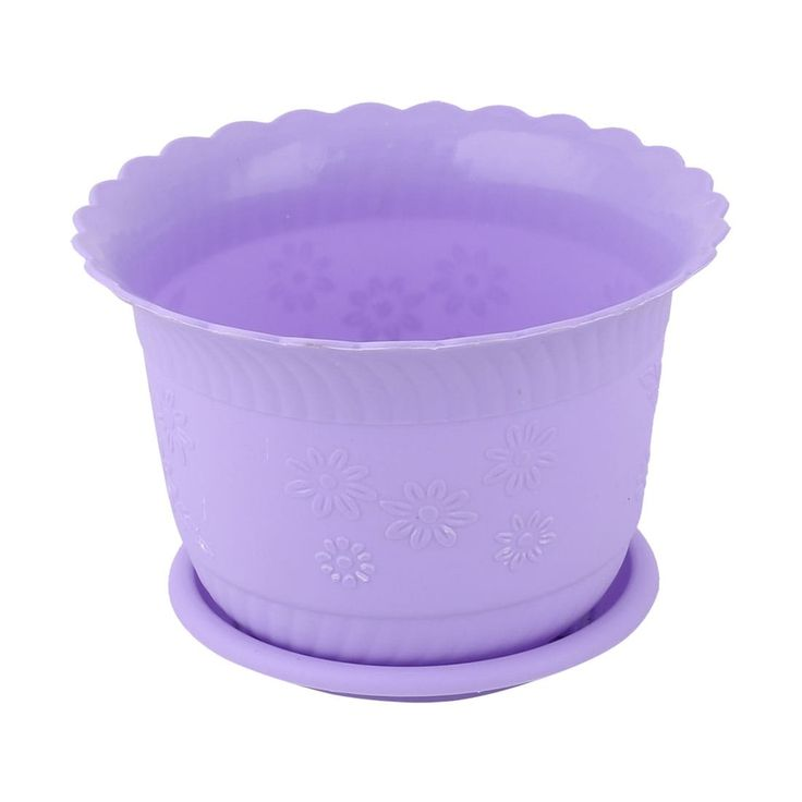 Home Office Plastic Table Decor Flower Plant Pot Planter Container Holder Purple #a16121300ux0219, Outdoor Décor
